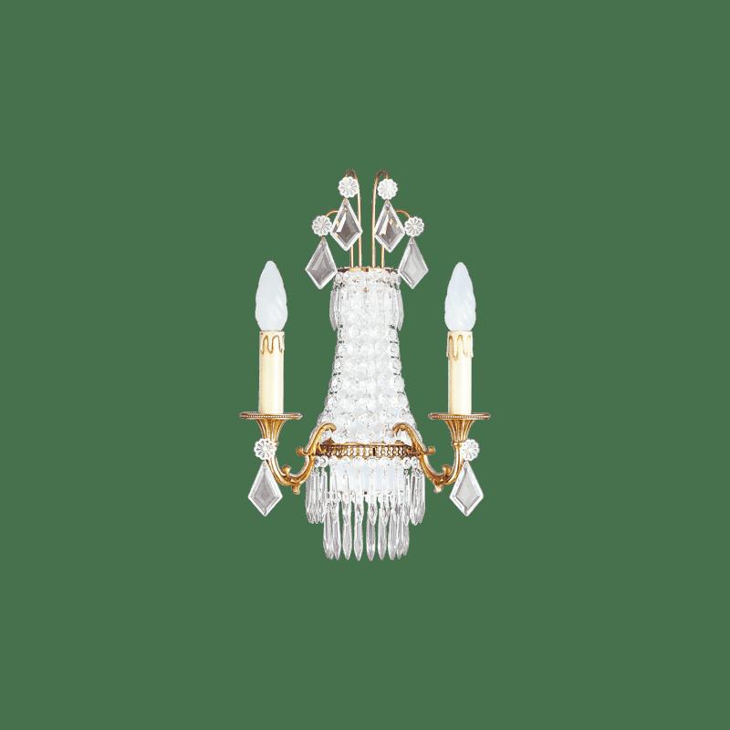 Lucien Gau Louis XVI Kristallleuchte in drei Leuchten 16363 Kristalle