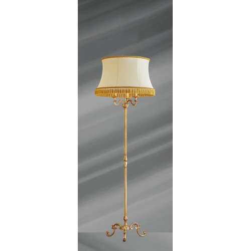 Lucien Gau Louis XV floor lamp with three lights with lampshade 15973 ter