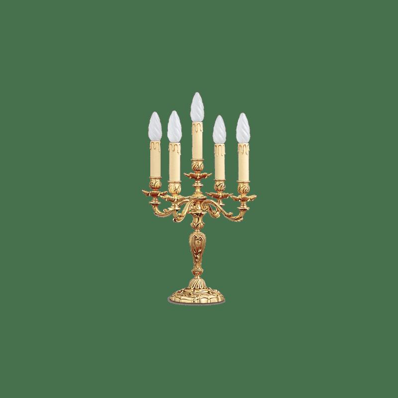 Lucien Gau Louis XV Fünf-Licht-Kronleuchter Tischlampe 15475