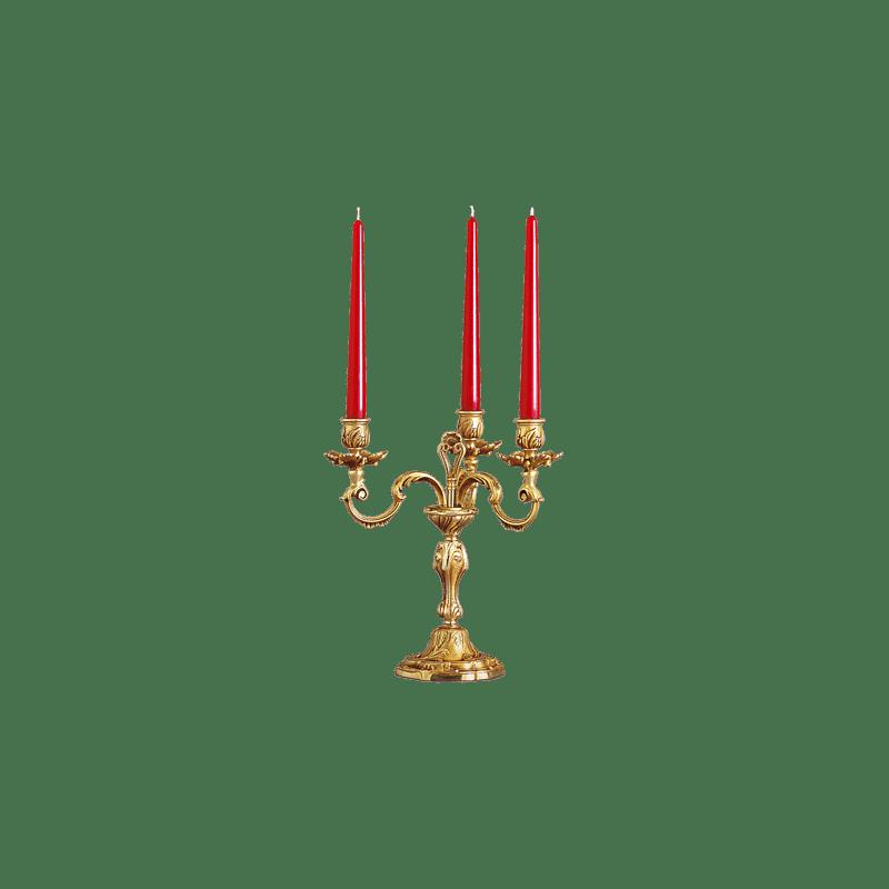 Lucien Gau Louis XV Drei-Kerzen-Kronleuchter Lampe 15203 ter