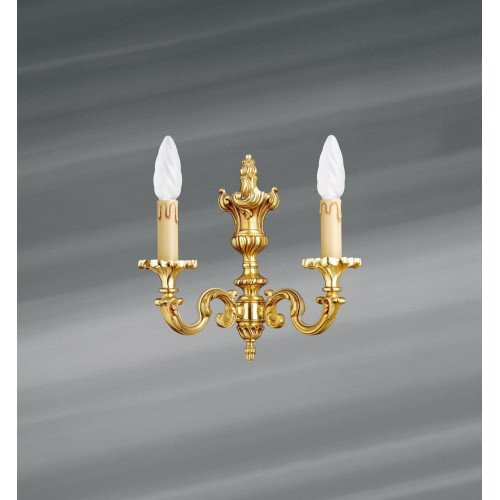 Lucien Gau Louis XV solid bronze wall light with two lights 15822