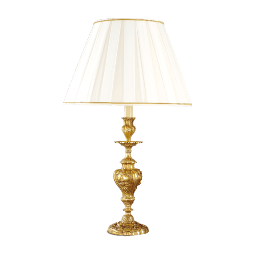 Lucien Gau Louis XV table lamp with large lampshade 15591