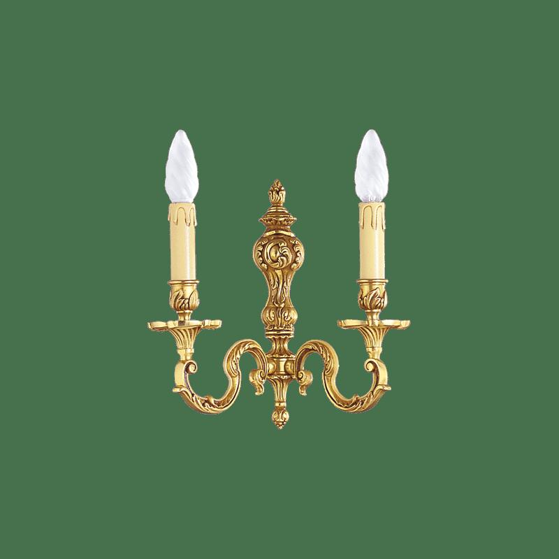 Lucien Gau Louis XV solide Bronze Zwei-Licht-Wandleuchte 15582