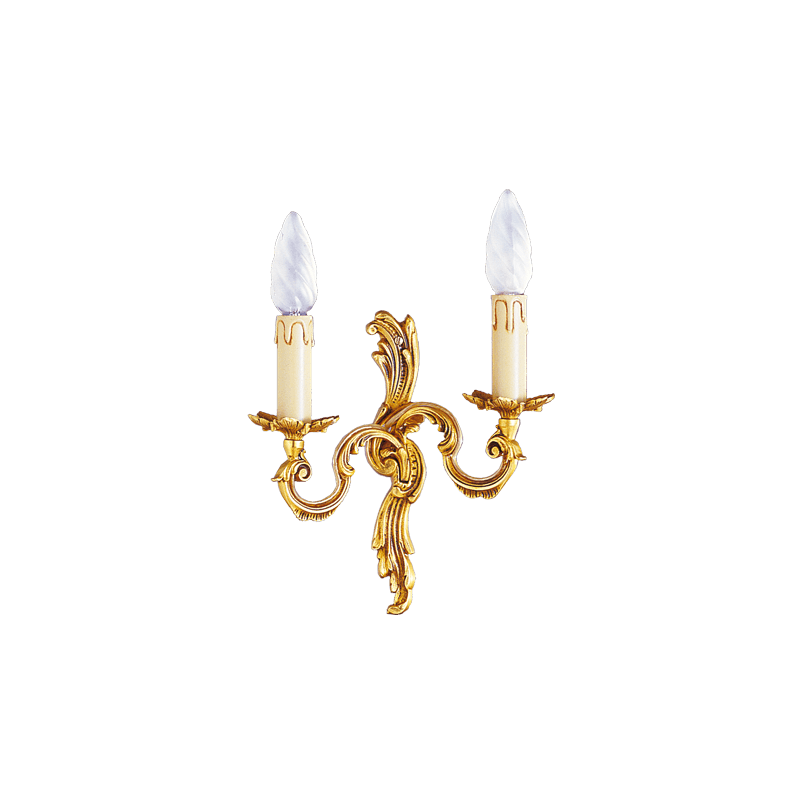 Lucien Gau Louis XV wall lamp with two lights 15182
