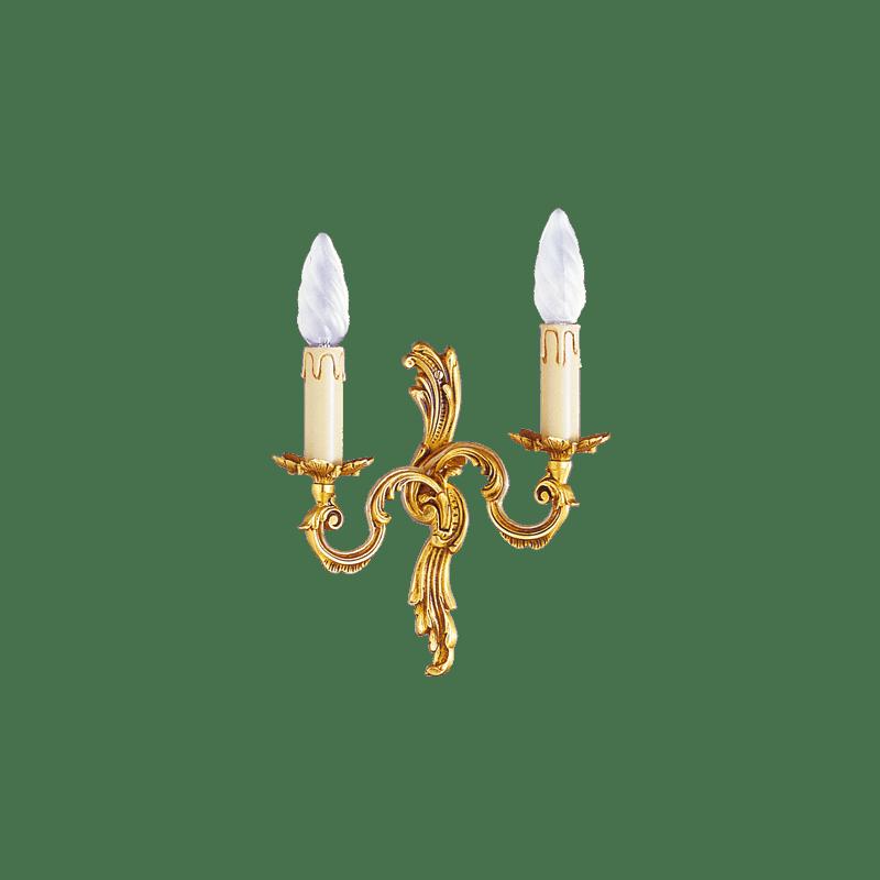 Lucien Gau Louis XV Wandleuchte mit zwei Leuchten 15182