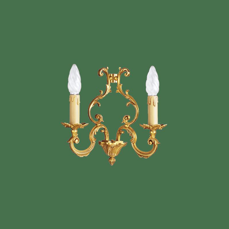 Lucien Gau Louis XV aus massiver Bronze mit zwei Leuchten 15882