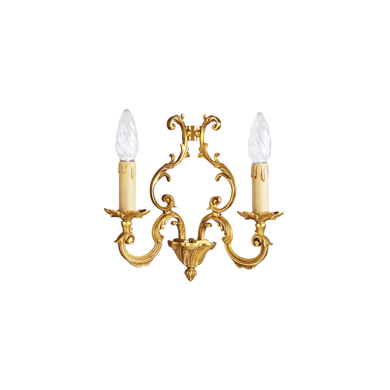 Lucien Gau Louis XV solid bronze sconce with two lights 15882