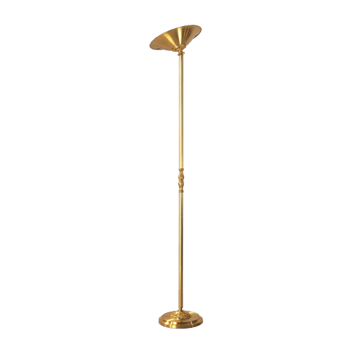 Lucien Gau Floor lamp in solid Louis XV bronze with reflector 15271