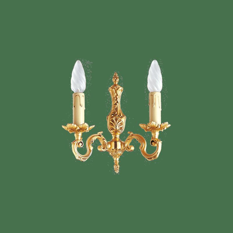 Lucien Gau Louis XV vergoldete Bronze Wandlampe mit zwei Lichtern 15602