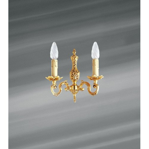 Lucien Gau Louis XV gilt bronze wall lamp with two lights 15602