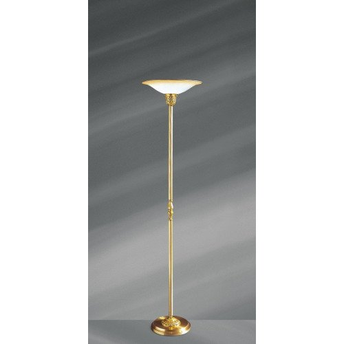 Lucien Gau Louis XV floor lamp with frosted glass diffuser 15371