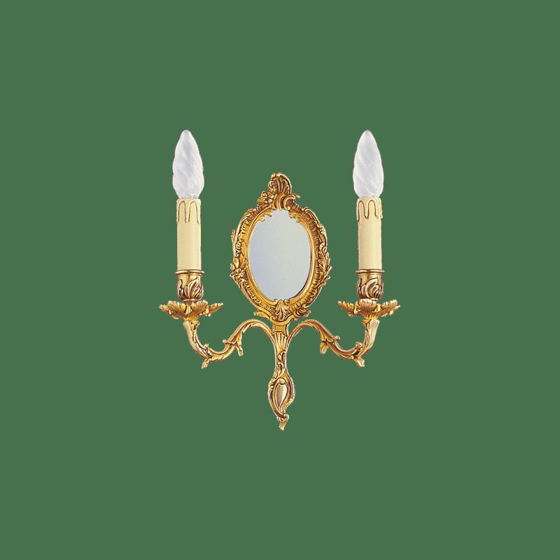 Lucien Gau Applique Louis XV à deux bougeoirs avec miroir 15372