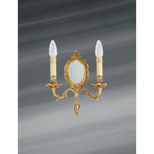 Lucien Gau Wall Lamp Louis XV with two candlesticks with mirror 15372