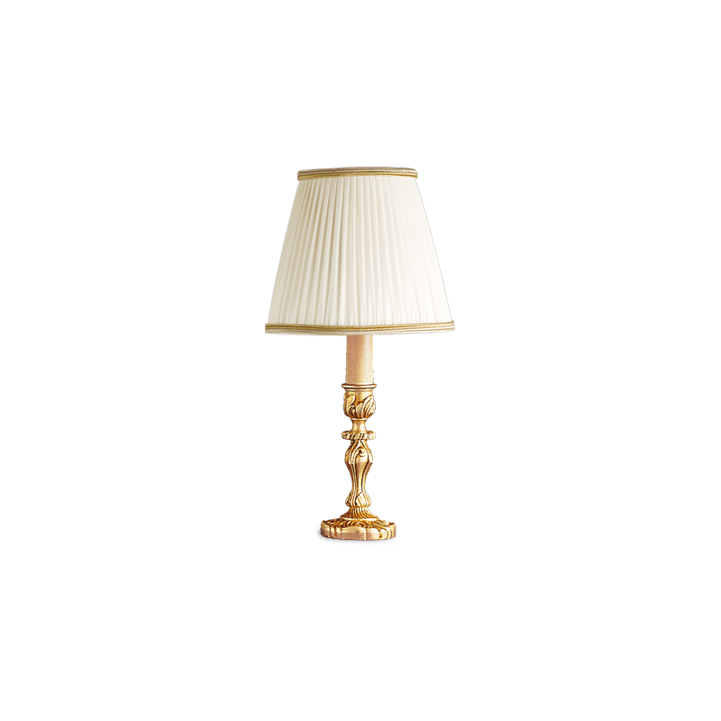 Lucien Gau Louis XV Bronze Tischlampe mit Lampenschirm 15531