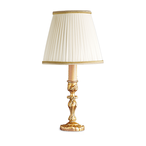 Lucien Gau Louis XV bronze table lamp with lampshade 15531