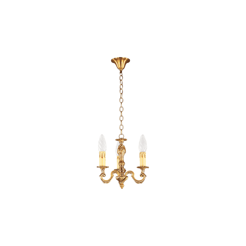 Lucien Gau Louis XV solid bronze wall lamp with three lights 15933
