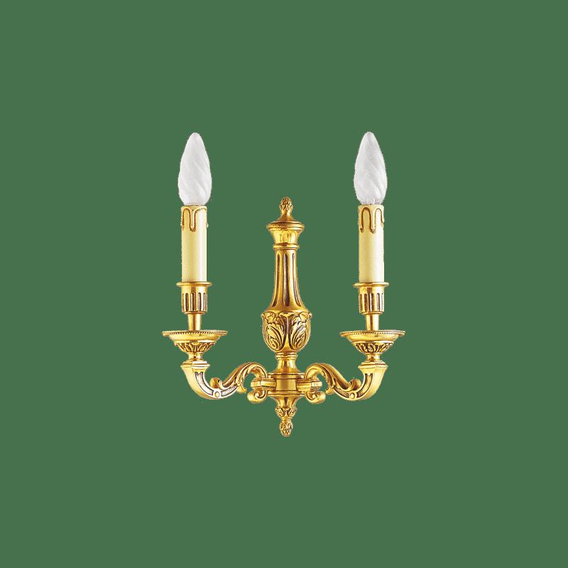 Lucien Gau Louis XVI Bronze zweiflammige Wandleuchte 16232