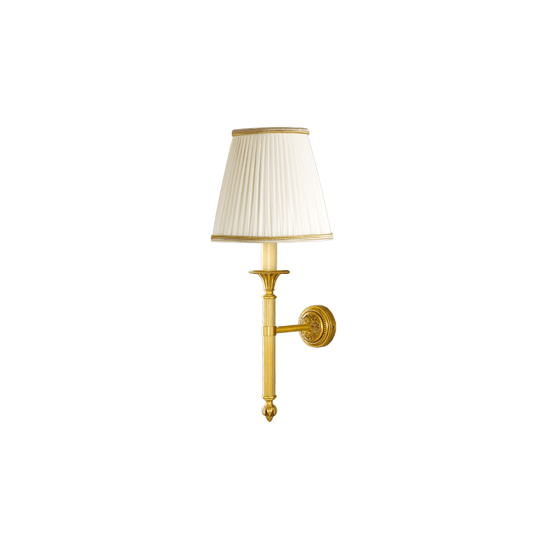 Lucien Gau Wall lamp in Louis XVI simple candle holder with lampshade 16311