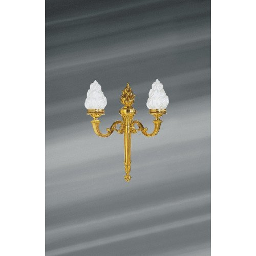 Lucien Gau Louis XVI solid bronze wall light with two lights 16192
