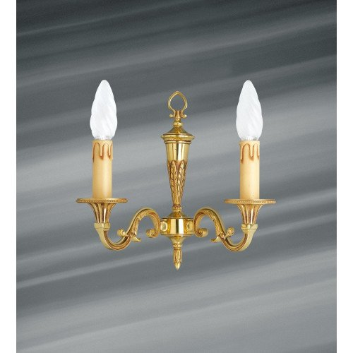 Lucien Gau Louis XVI solid bronze sconce with two lights 16452
