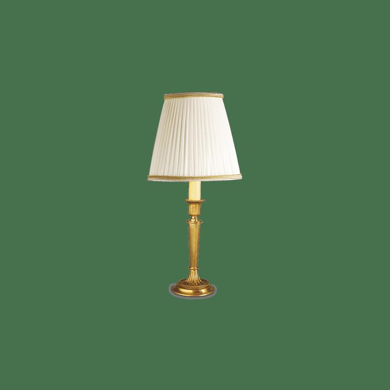 Lucien Gau Louis XVI Tischleuchte mit einem Licht und Lampenschirm 16011