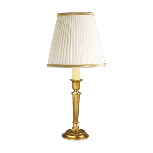 Lucien Gau Louis XVI single light table lamp with lampshade 16011