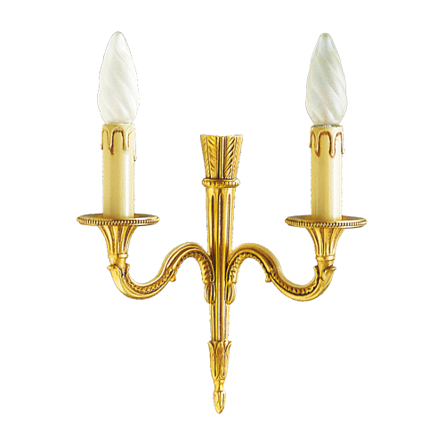 Lucien Gau Louis XVI solid bronze wall light with two lights 16422