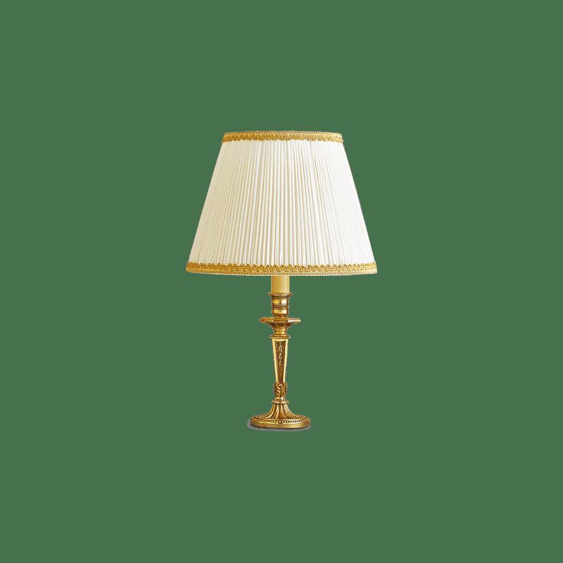 Lucien Gau Louis XVI Tischlampe mit Lampenschirm 16071
