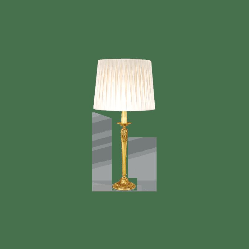 Lucien Gau Louis XVI table lamp with white shade 16591