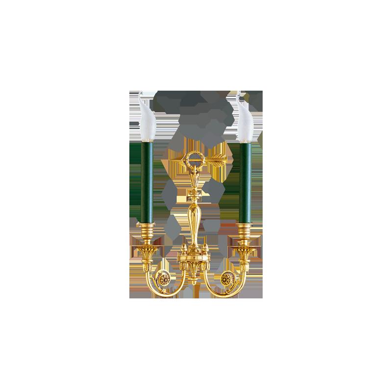 Gau Bronze Lumières Directoire Doré À Applique Lucien 17602 En Deux zUSMpV