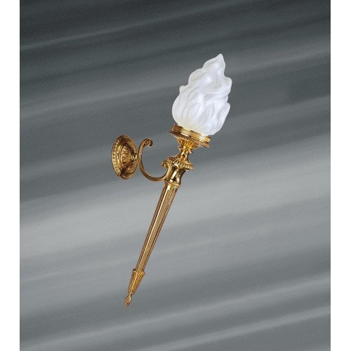 Lucien Gau Wall lamp in solid bronze Directoire with simple light 16511