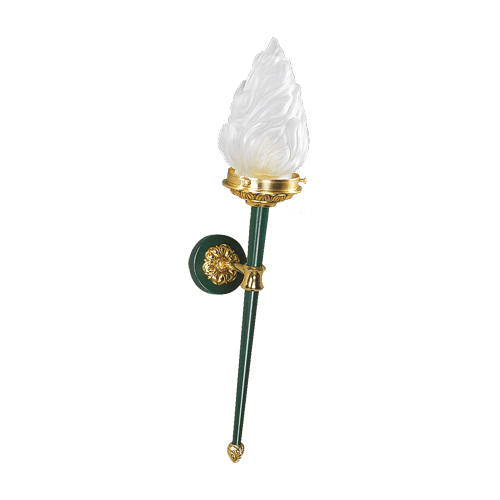 Lucien Gau Directoire style wall lamp with flame-shaped light 17011