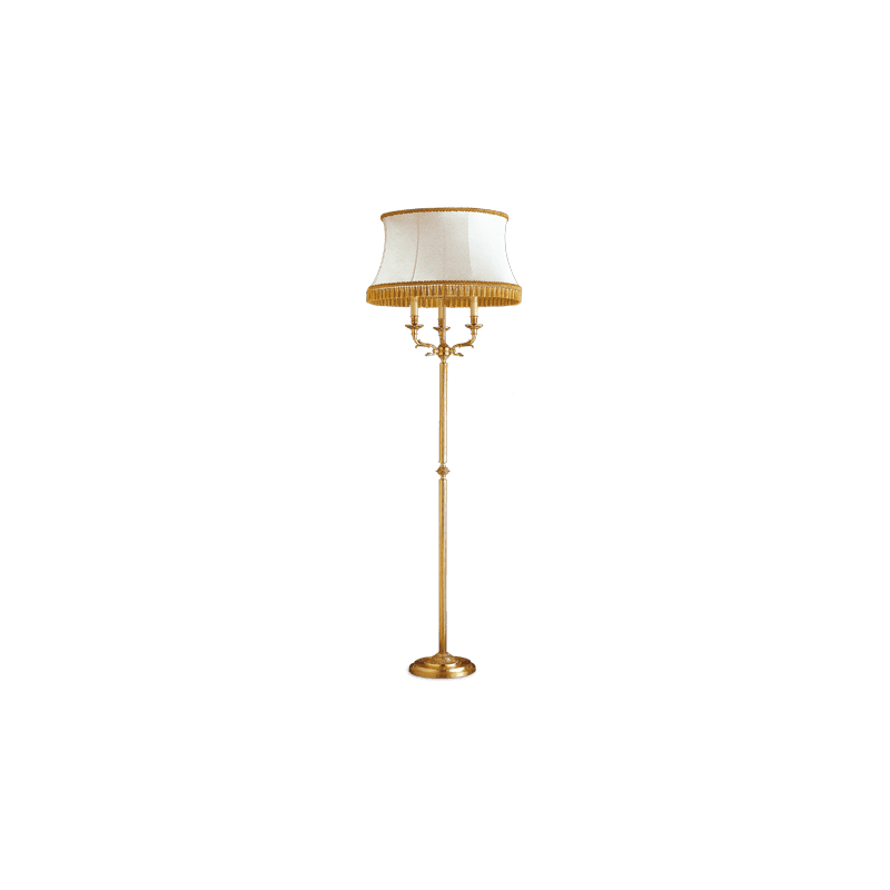 Lucien Gau Directoire floor lamp with three lights lampshade 17723 ter