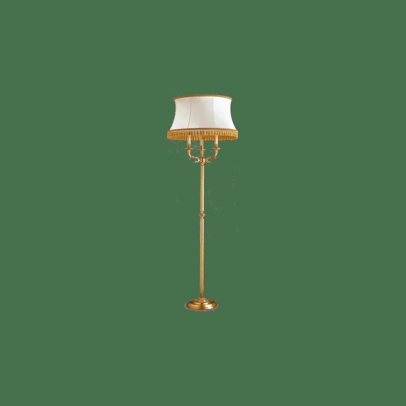 Lucien Gau Directoire Stehleuchte mit drei Lichtern Lampenschirm 17723 ter
