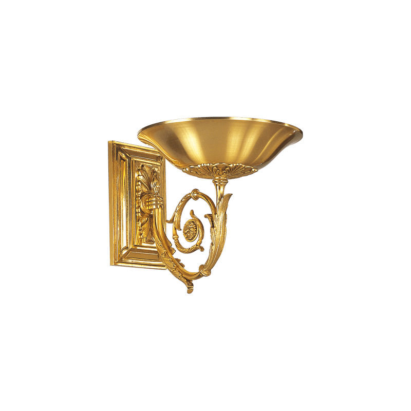 Lucien Gau Directoire Wandleuchte mit Licht in Form eines Beckens 18621