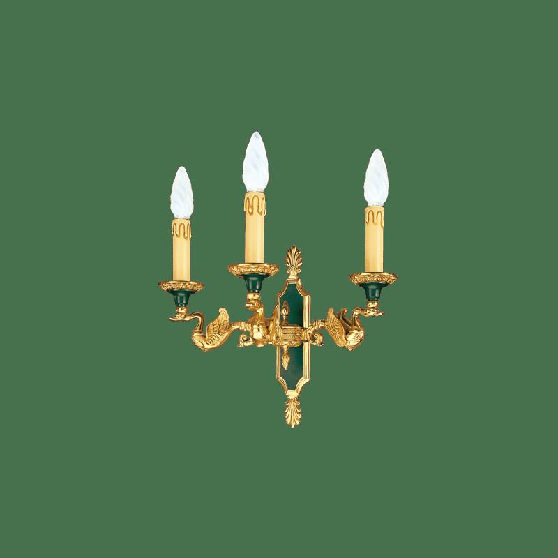 Wandleuchte im Lucien Gau Empire-Stil mit drei Lichtern 15003