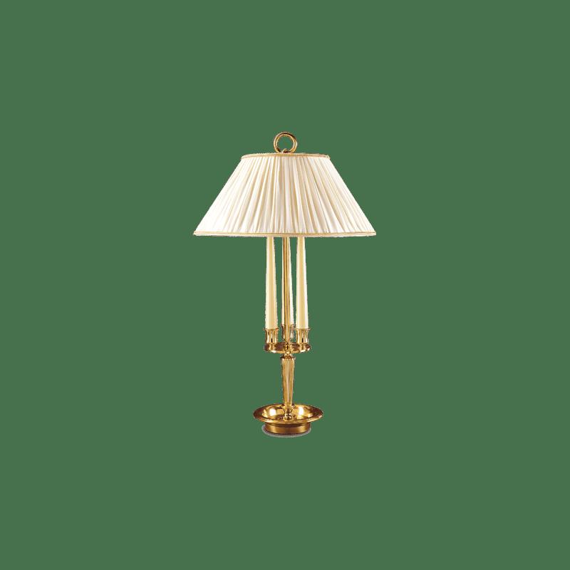 Tischlampe im Empire-Stil von Lucien Gau mit zwei Lichtern 15412- Ascott
