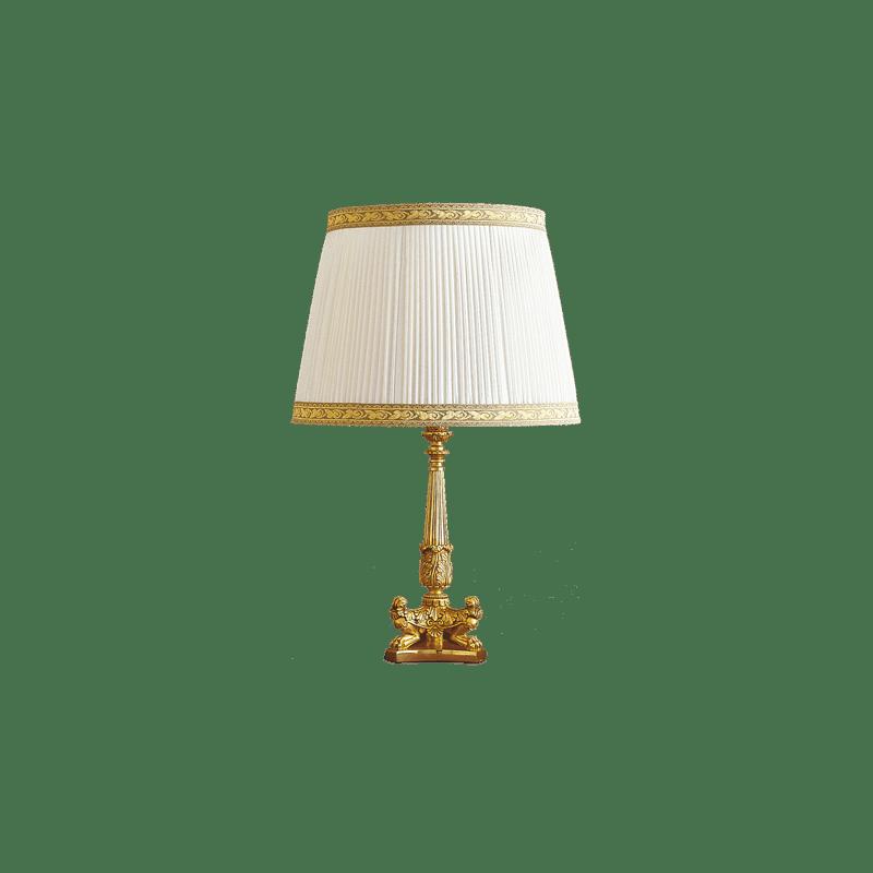 Bronzelampe im Lucien Gau Empire-Stil mit Lampenschirm 15121