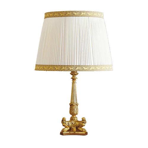 Lucien Gau Empire style bronze lamp with lampshade 15121