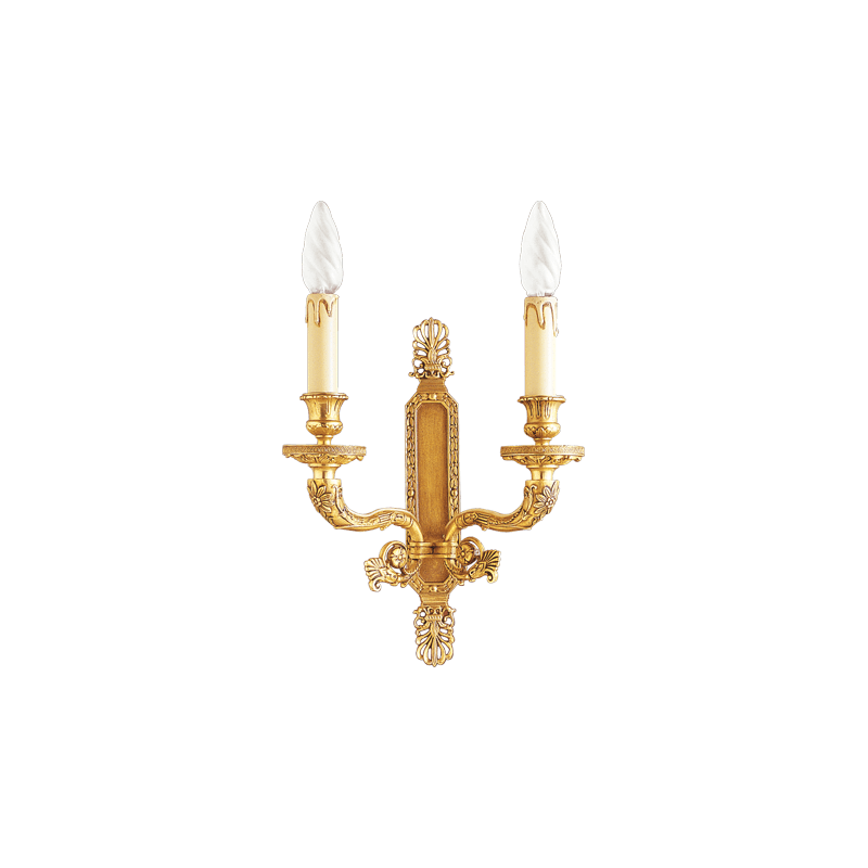 Lucien Gau Bronze sconce, Empire style, two lights 17002