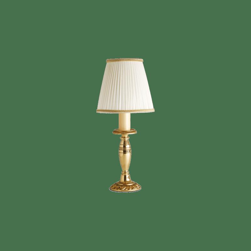 Lucien Gau Empire Bronze Lampe plissiert Elfenbein Lampenschirm 15131 pli