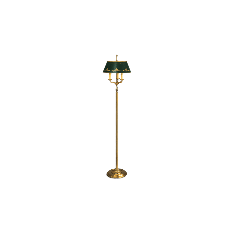 Lucien Gau Empire style floor lamp with three lights with lampshade 15313