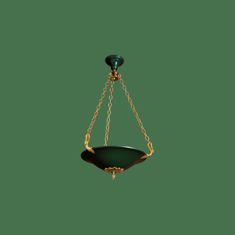Lucien Gau Empire style bronze pendant lamp 17031