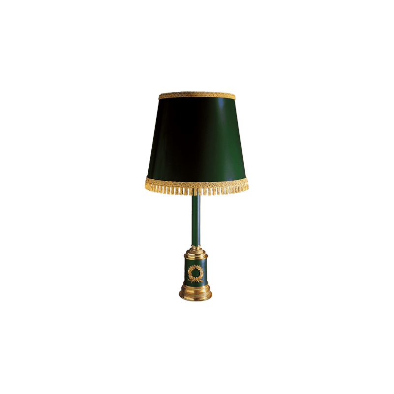 Lucien Gau Empire Tischlampe mit Lampenschirm 15141