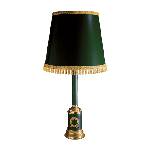 Lucien Gau Empire table lamp with lampshade 15141