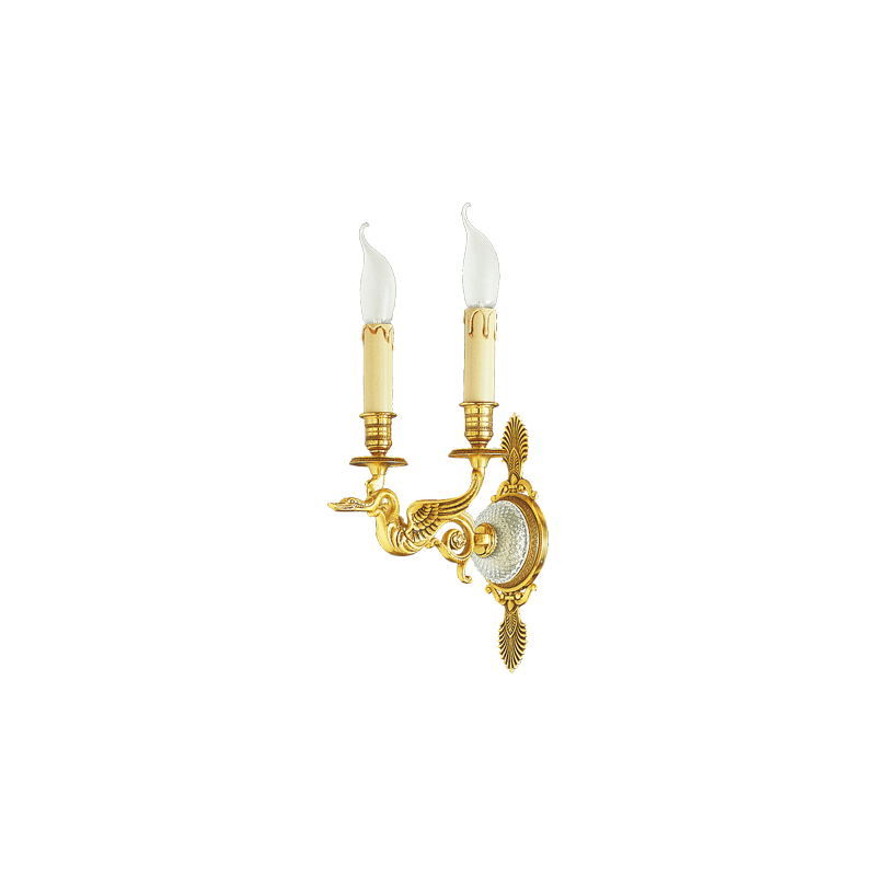 Lucien Gau Restauration style sconce with two lights 18122