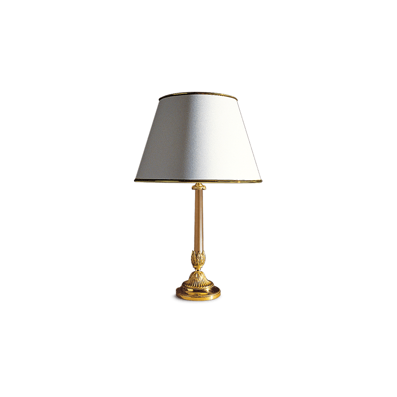 Lucien Gau Table lamp Restauration with halogen light and lampshade 18611