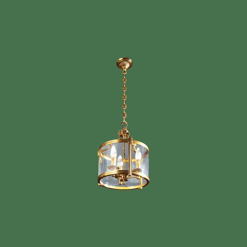 Lucien Gau Drei-Licht-Bronzelaterne 16403