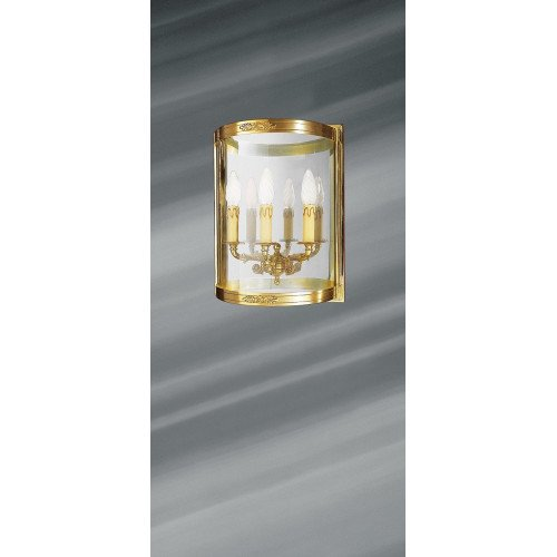 Lucien Gau Empire solid bronze wall lamp with three lights 15483