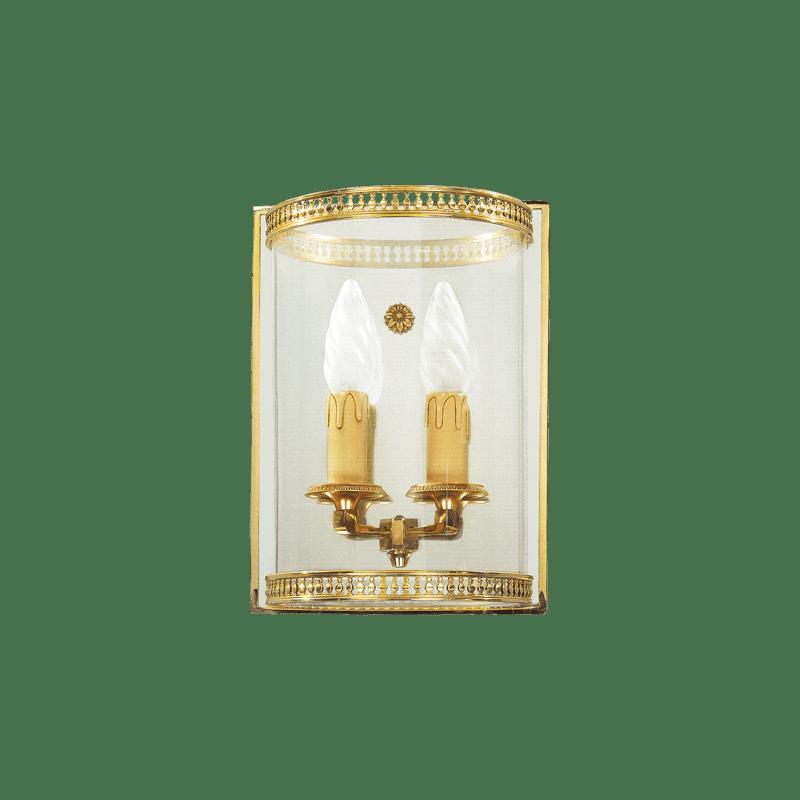 Lucien Gau Gebogene Glasleuchte mit zwei Lichtern 16122